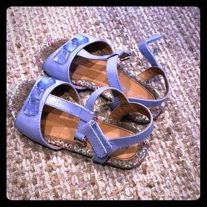 Lilac floral sandals